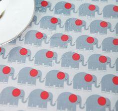 Laminated Cotton Fabric Elephant Gray By The Yard by BonitaFabric, $17.10