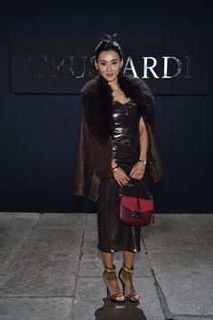 Hong Kong actress and singer Cecilia Cheung attending the TRUSSARDI Spring Summer 2016 Womenswear show #Trussardi