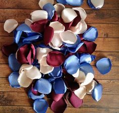 54 Ideas Slate Blue Wedding Decorations Color Combinations For 2020 Burgundy Wedding Flowers, Rose Petals Wedding, Maroon Wedding, Cream Wedding, Champagne And Blue Wedding, Fall Wedding, Wedding Bells, Wedding Reception, Blue Wedding Decorations