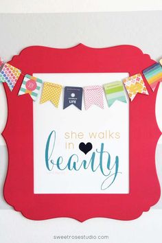 She walks in Beauty |free printable