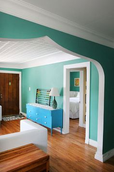 I love the arch and wall color.