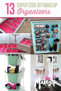 13 Extremely Cool DIY Makeup Organizers    Organize Your Makeup With These Cool DIY Organizer. From Repurposed Materials That Will Save You A Lot Of Space And Money! by Makeup Tutorials at http://makeuptutorials.com/13-extremely-cool-diy-makeup-organizers/