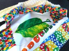 The very hungry caterpillar panel  travel baby blanket 2