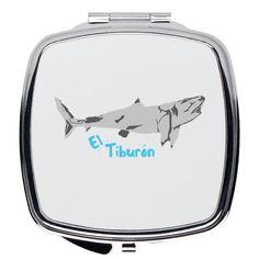 El Tiburon Compact Mirror - Square / 2.25x2.25 inch