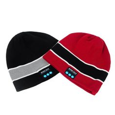 Bluetooth Knitted Hat Built-in Stereo Speakers Hands-free Winter Warm Beanie  Cap   03811a057806