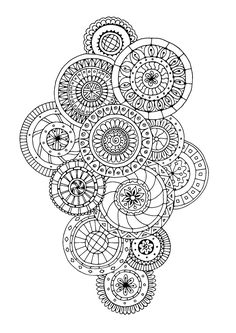 Free coloring page coloring-zen-antistress-abstract-pattern-inspired-by-flowers-5-by-juliasnegireva. Zen & Anti-stress Coloring page : Abstract pattern inspired by flowers : n°5, by Juliasnegireva (Source : 123rf)