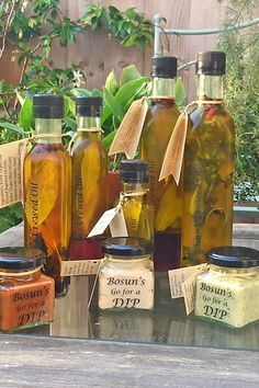 Twice-infused oils, dressings and dips Artisan Food, Infused Oils, Recipe Box, Gourmet Recipes, Dressings, Dips, Trail, Syrup, Sauces