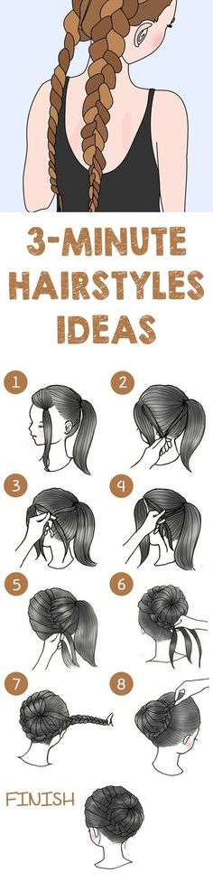 Here is the list of top 10 easiest hairstyle that any girl can make within 3-minutes. Scroll down to see the tutorials.