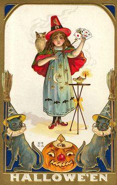 A Hallowe'en card trick