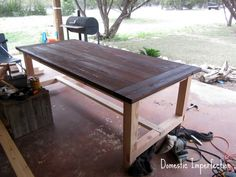 Do it yourself Farm Table. Want it out of old barn wood that I have. Just need this guy to come over and do it. lol