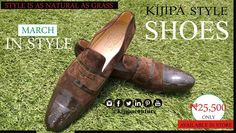 CHOCO BROWN WET LOOKS AND LEATHER MIX KIJI LOAFER