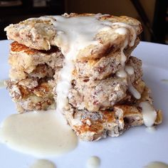 """""""That drizzle of coconut butter. That's really what life is all aboutThank you @eatclean_livestrong for this amazing stack of banana chia pancakes topped…"""""""