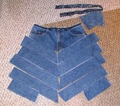 Refashion Jeans to Skirt by donna brown