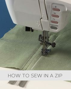 How to sew in a zip #howto, #helpful, #useful, #tips, #advice