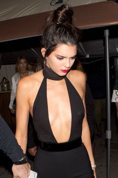 Happy Birthday, Kendall Jenner! The Model Rings In Her 20s With Supercharged Red Lips—and a Dramatic Décolletage