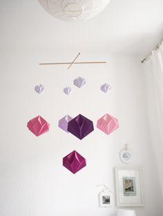 DIY Origami Mobile Papier-Diamant | www.karolin-buckl.de