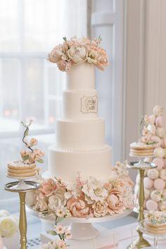 Pretty In Pink Romantic Garden-Inspired Fall Wedding