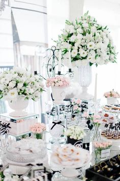 Florals + Decor + Sweets from a Chanel Inspired Birthday Party via Kara's Party Ideas | KarasPartyIdeas.com (14)