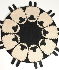 Take a look at this Sheep Candle Mat by Pearson's Simply Primitives on #zulily today!