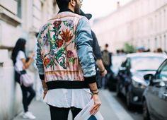 Jacket: pink blue silk bomber bomber embroidered floral flowers mens bomber satin bomber unisex