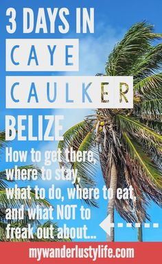 3 Days in Caye Caulker, Belize | How to get there | Where to stay | What to do | Where to eat | and what NOT to freak out about.