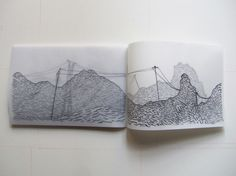 Noted, AVL: Layer by layer. [Jonah Sack, Broken Line, artist's book,  Tracing paper]