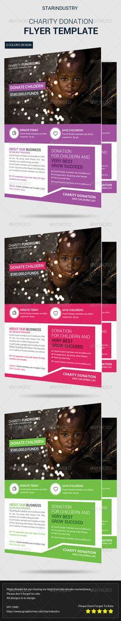 Tips on polishing a print portfolio Design Inspiration - donation flyer template