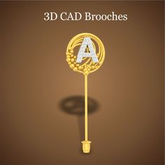 3D CAD Brooches