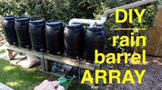 How To Make A DIY Rain Barrel Array... - http://www.ecosnippets.com/gardening/how-to-make-a-diy-rain-barrel-array/