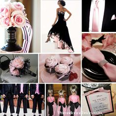 Lots Of Ideas Black Wedding Themes Pink Weddings Color Schemes
