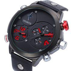 78eaa47d536b NORTH Fashion Multiple Time Zone Watch Men Military Watch Casual Sport  Watches Quartz Wristwatch Relojes Hombre Male Hour. Relojes De ...
