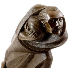 Ernst Barlach. Le réfugié (bronze)
