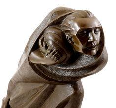 Ernst Barlach. Le réfugié 1920 (bronze)