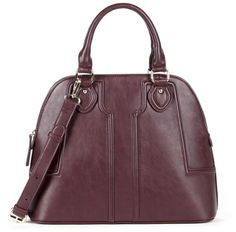 Marlow vegan structured dome satchel - Great bag for under $30! Love the maroon color. #affiliate