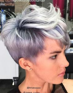 visit for more Sexy Pastel Pixie The post Sexy Pastel Pixie appeared first on kurzhaarfrisuren. Short Hairstyles For Thick Hair, Short Grey Hair, Haircut For Thick Hair, Haircut And Color, Pixie Hairstyles, Curly Hair Styles, Cool Hairstyles, Short Haircuts, Summer Hairstyles