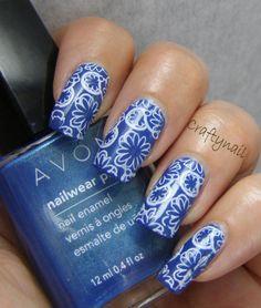 porcelain-look nail art