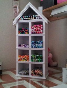 Copic marker mansion... made by my hubby!