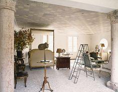 Sills and Huniford interior design, painted design on ceiling Top Interior Designers, Luxury Interior Design, Interior Decorating, Timeless Design, Modern Design, Brick Flooring, Floors, Classic Elegance, Classic Chic