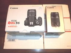 NewCanon EOS Rebel T6 Digital SLR WI-FI Camera Body W/New Cannon 75-300mm Lens
