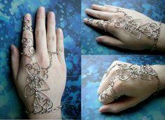 Wire Wrapped Henna Slave Bracelet (Version Two) by RachaelsWireGarden.deviantart.com on @deviantART
