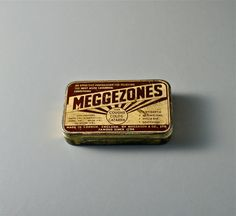 Lovely old tin. Meggezones for Coughs Colds by WeFoundThisToday