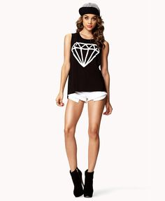 Diamond Muscle Tee | FOREVER21 #Summer