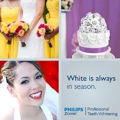 White is Always in Season! Zoom Teeth Whitening, Get Whiter Teeth, White Smile, Medical History, White Teeth, Model, Fashion, Moda