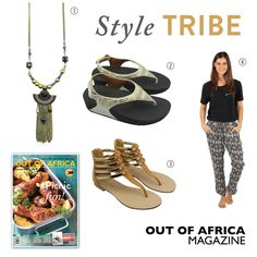 Get Shopping with OUT OF AFRICA: SEPTEMBER Issue OUT NOW!  Style at its best is an ever-evolving ever-changing reflection of ones truest self. Rock embellishments and bold prints with these stylish fashion buys.  1. EGYPTIAN NECKLACE $28 enhance your appearance with this decadently styled necklace. Available at Glamourize. 2. FIT FLOP AGLET CHADA $145 these suede sandals are the perfect mix of pretty and practical with beautiful jewel detailing. They have a quick-stick adjustable back strap…