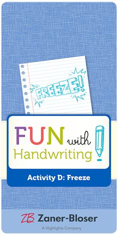 Encourage self-assessment and promote handwriting best practices with a quick in-class game you can call out at any time! Zaner Bloser Handwriting, Handwriting Activities, Class Games, Self Assessment, Homeschool, Encouragement, Layout, Craft, Fun