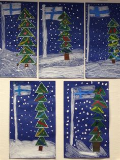 Jouluaskarteluja - www.opeope.fi Hobbies And Crafts, Arts And Crafts, Diy For Kids, Crafts For Kids, Independence Day Photos, Kindergarten Themes, Winter Art, Christmas Activities, Art Classroom