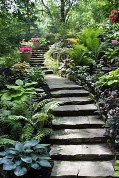 95 Incredible Garden Pathway Ideas for Backyard and Front Yard – Landscaping 2020 Amazing Gardens, Beautiful Gardens, Path Design, Design Ideas, Garden Stairs, Design Jardin, Woodland Garden, Shade Garden, Dream Garden