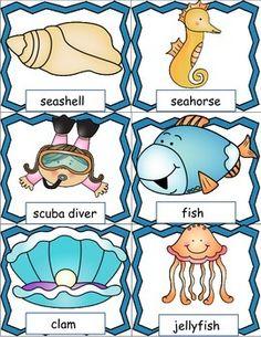 Ocean animal bingo free ocean printables free printable for Pout pout fish pdf