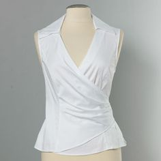 white wrap shirt...possible refashion idea