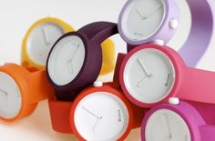 candy colored watches from O'Clock
